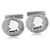 18k White Gold Cufflinks