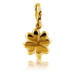 14kt Yellow Gold Four Leave Clover Charm Pendant