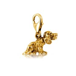 18kt Yellow Gold Dog Charm Pendant