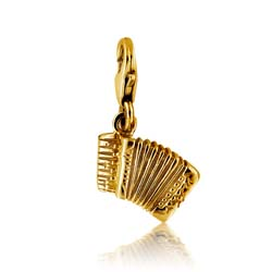 14kt Yellow Gold Accordion Charm Pendant