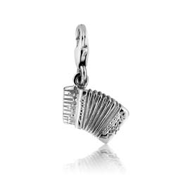 Silver Accordion Charm Pendant