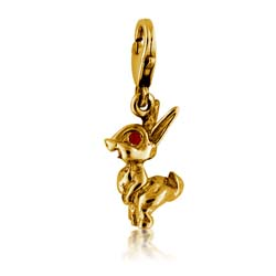 18kt Yellow Gold Bunny Charm Pendant
