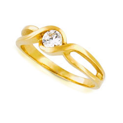 Extraordinary 18kt Yellow Gold Diamond Engagement Ring