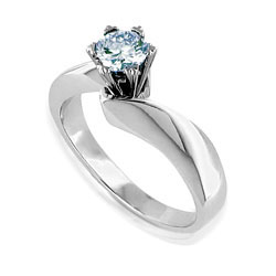 Stunning 14kt White Gold Diamond Engagement Ring