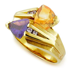 Stunning 14kt Yellow Gold Diamond and Gemstone