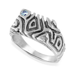 Mens 14kt White Gold 0.10ct Diamond Ring