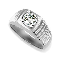 Mens 14kt White Gold 1.05ct Diamond Ring