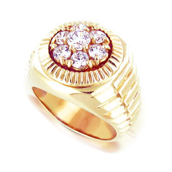 14kt Yellow Gold 0.50 Diamond Ring for Men