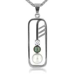 14kt White Gold Beautiful Pearl Pendant