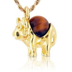 Matchless 18kt Yellow Gold Buffalo Pendant