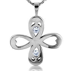 14kt White Gold Attractive Diamond Pendant
