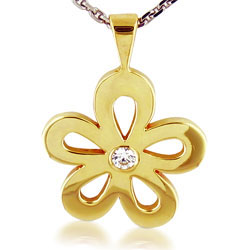 Diamond Pendant 14kt Beautiful Yellow Gold