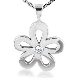 Gorgeous Diamond 14kt White Gold Pendant
