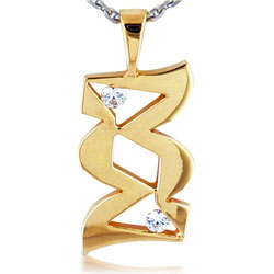 Glowing 14kt Yellow Gold Diamond Pendant